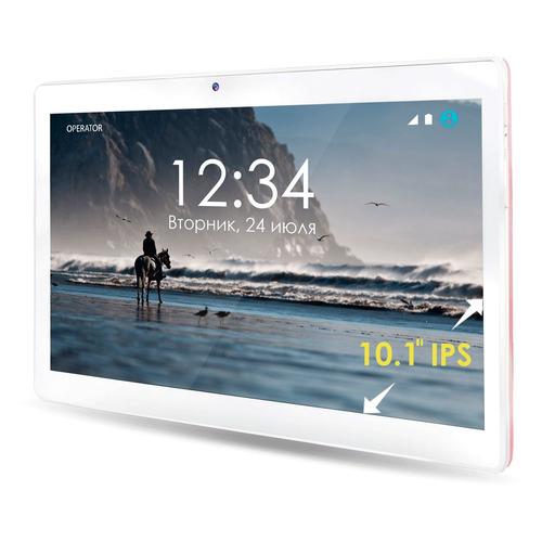 цена на Планшет GINZZU GT-1050, 1GB, 16GB, 3G, 4G, Android 7.0 розовый [00-00001136]