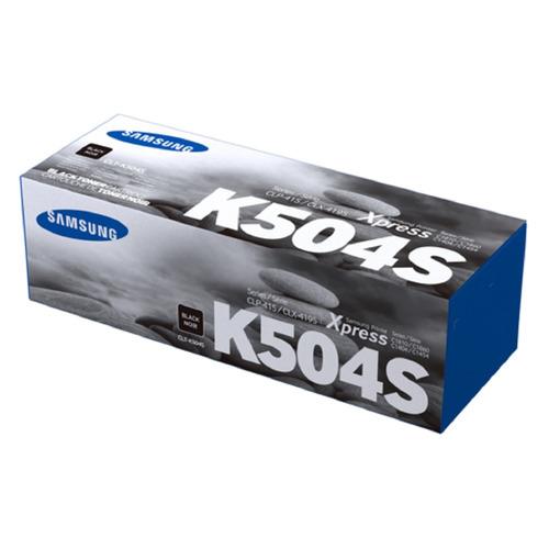 Картридж SAMSUNG CLT-K504S, черный [su160a]  - купить со скидкой