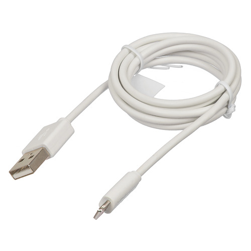 Кабель HAMA H-173863, USB A(m) - Lightning (m), 1м, MFI, белый [00173863] кабель partner mfi usb 2 0 apple iphone ipod ipad с разъемом 8pin 1м черный