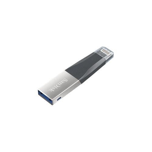 Флешка USB SANDISK iXpand Mini 32Гб, USB3.0, черный и серебристый [sdix40n-032g-gn6nn] цены онлайн