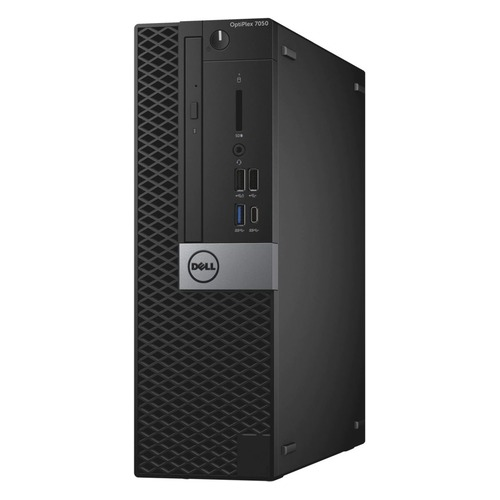 Компьютер DELL Optiplex 7050, Intel Core i5 6500, DDR4 8Гб, 256Гб(SSD), Intel HD Graphics 530, DVD-RW, Windows 10 Professional, черный и серебристый [7050-2585] компьютер hp prodesk 400 g4 intel core i5 6500 ddr4 4гб 500гб intel hd graphics 530 dvd rw windows 10 professional черный [1jj52ea]