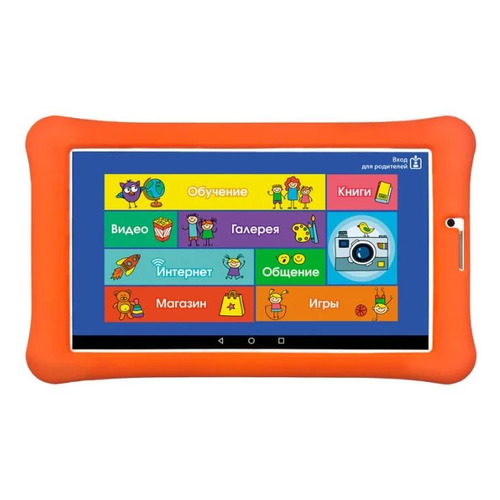 Детский планшет TURBO TurboKids 3G NEW 8Gb, Wi-Fi, 3G, Android 7.0, белый/оранжевый [рт00020453] inwatch z android 4 2 dual core watch phone w 1 63 screen wi fi gps ram 1gb rom 8gb black
