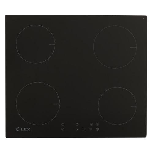 Индукционная варочная панель LEX EVI 640-1, индукционная, независимая, черный индукционная варочная панель lex evi 640 1 wh