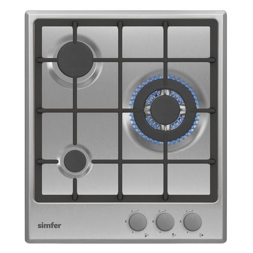 Варочная панель SIMFER H45V35M512, независимая, серебристый варочная панель simfer h60v41l517 независимая антрацит