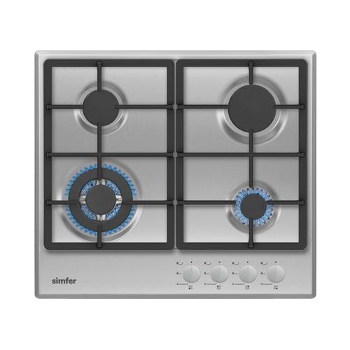 Варочная панель SIMFER H60V41M511, независимая, нержавеющая сталь варочная панель simfer h60v41l517 независимая антрацит