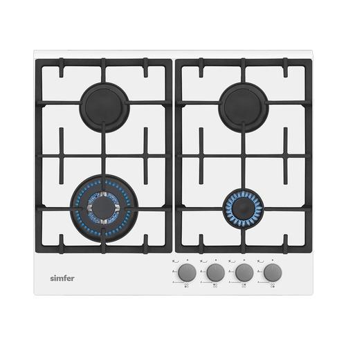 Варочная панель SIMFER H60H40W511, независимая, стекло белое варочная панель simfer h60v41l517 независимая антрацит