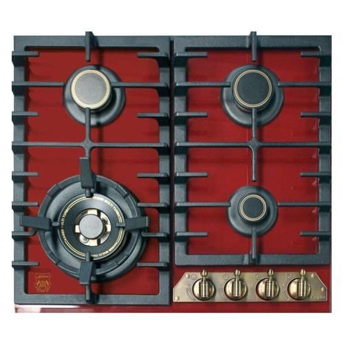 Варочная панель KAISER KCG 6335 RotEm Turbo, независимая, красный стеновая панель клубника 90x0 6x60 см стекло цвет бело красный