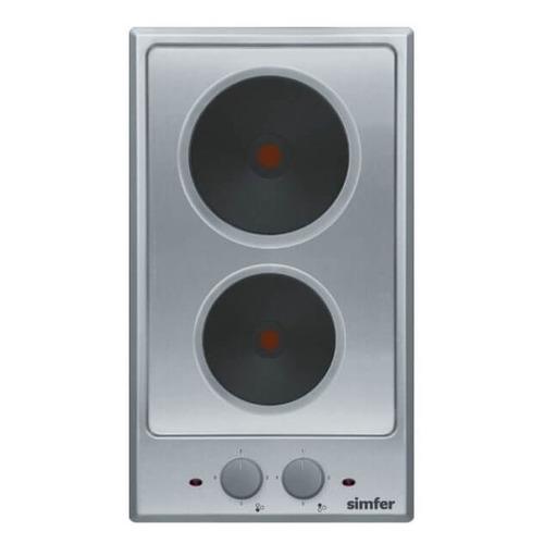 Варочная панель SIMFER H 30 E02 M011, электрическая, независимая, серебристый варочная панель simfer h45d13b011 электрическая независимая черный