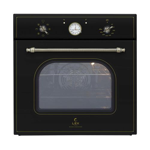 Духовой шкаф LEX EDM 070C BL, стекло черное цена и фото