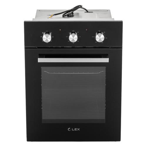 Духовой шкаф LEX EDM 4570 BL, стекло черное цена и фото