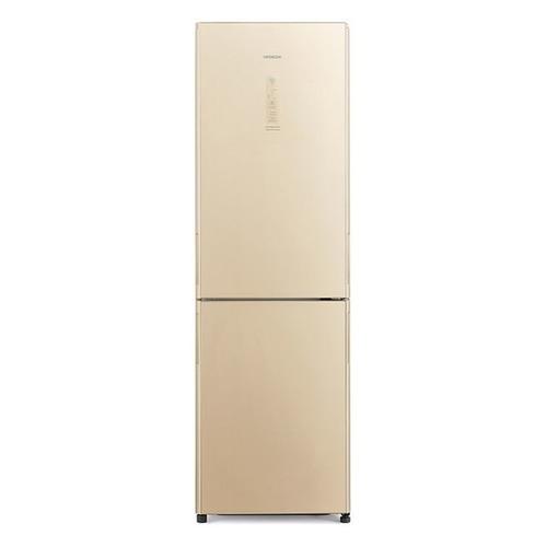 Холодильник HITACHI R-BG410 PU6X GBE, двухкамерный, бежевый стекло двухкамерный холодильник hitachi r v 722 pu1 sls