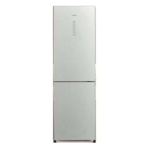 Холодильник HITACHI R-BG410 PU6X GS, двухкамерный, серебристое стекло двухкамерный холодильник hitachi r v 722 pu1 sls