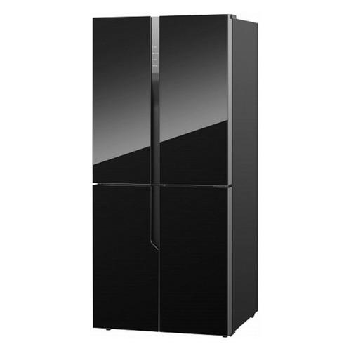 Холодильник HISENSE RQ-56WC4SAB, трехкамерный, черное стекло цена и фото