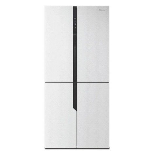 Холодильник HISENSE RQ-56WC4SAW, трехкамерный, белое стекло цена и фото