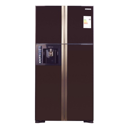 Холодильник HITACHI R-W 722 FPU1X GBW, двухкамерный, коричневое стекло цена и фото