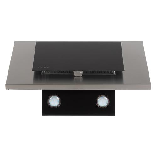 Вытяжка каминная Lex MINI 600 нержавеющая сталь/черное стекло управление: кнопочное (1 мотор) цена и фото