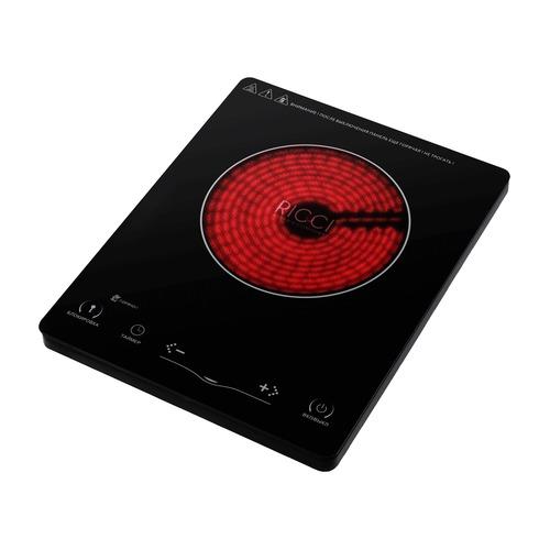 лучшая цена Плита Электрическая Ricci JDL-H20B9 черный закаленное стекло (настольная)