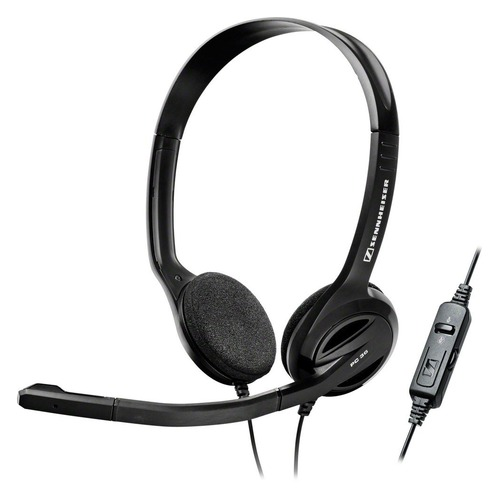лучшая цена Гарнитура SENNHEISER PC 36 Call Control, для контактных центров, накладные, черный [504523]