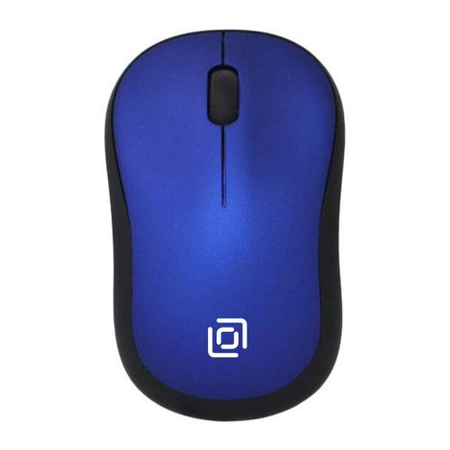 Мышь OKLICK 655MW, оптическая, беспроводная, USB, черный и синий все цены