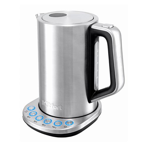 Чайник электрический KITFORT КТ-621, 2200Вт, серебристый КТ-621 по цене 3 390