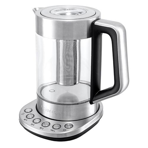 Чайник электрический KITFORT КТ-622, 2200Вт, серебристый