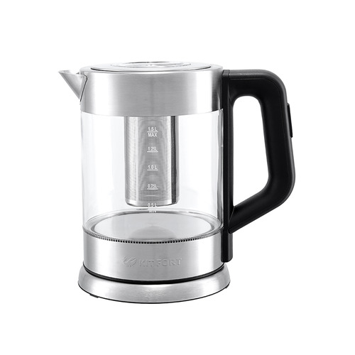 Чайник электрический KITFORT КТ-623, 2200Вт, серебристый КТ-623 по цене 2 890