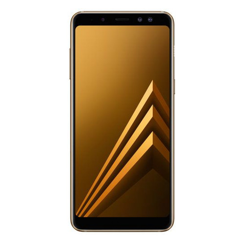 Смартфон SAMSUNG Galaxy A8 (2018) 32Gb, SM-A530F, золотистый смартфон samsung sm a530f galaxy a8 2018 32gb blue
