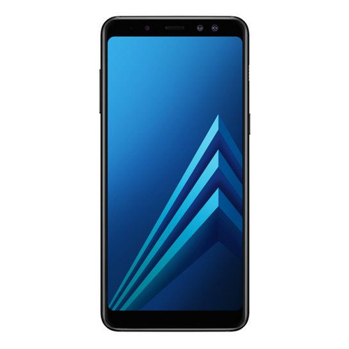 Смартфон SAMSUNG Galaxy A8 (2018) 32Gb, SM-A530F, черный смартфон samsung sm a530f galaxy a8 2018 32gb black