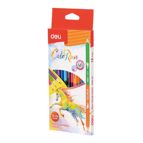 Фото - Упаковка карандашей цветных DELI EC00520 EC00520, липа, 24 цв., коробка европодвес, 12шт 24 шт./кор. упаковка карандашей цветных акварельных deli 6522 6522 липа 36 цв коробка металлическая