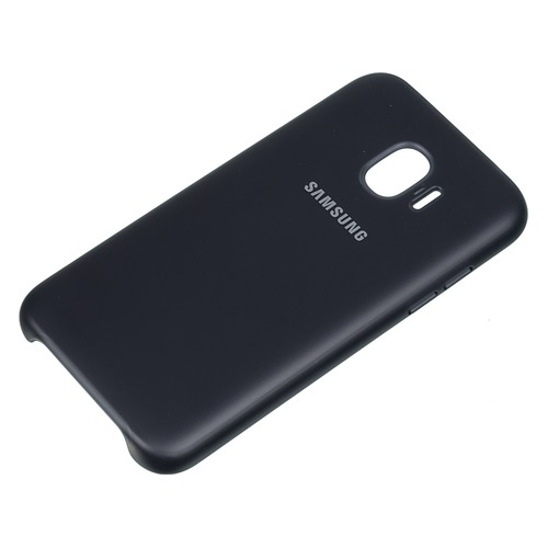 Чехол (клип-кейс) SAMSUNG Dual Layer Cove, для Samsung Galaxy J2 (2018), черный [ef-pj250cbegru]
