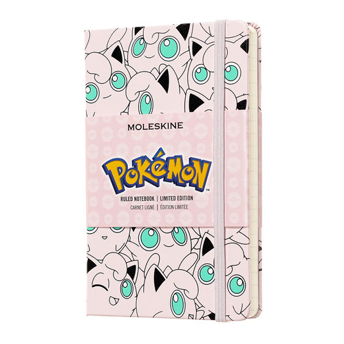 Блокнот Moleskine Limited Edition POKEMON Pocket 90x140мм 192стр. линейка Jigglypuff еженедельник moleskine limited edition denim wknt pocket 90x140мм 144стр черный