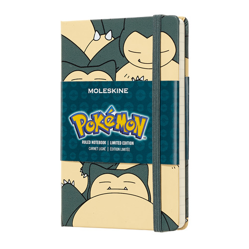 Блокнот Moleskine Limited Edition POKEMON Pocket 90x140мм 192стр. нелинованный Snorlax цена