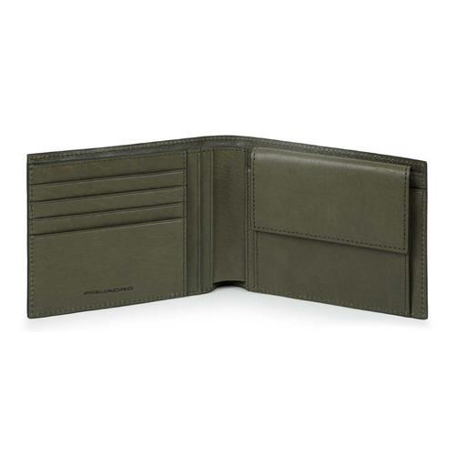 Фото - Кошелек мужской Piquadro Black Square PU257B3R/VE зеленый натур.кожа кошельки бумажники и портмоне piquadro pu257b3r ve