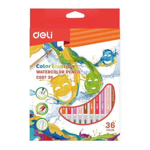 Фото - Упаковка карандашей цветных акварельных DELI EC00730 EC00730, липа, 36 цв., коробка европодвес упаковка карандашей цветных акварельных deli 6522 6522 липа 36 цв коробка металлическая