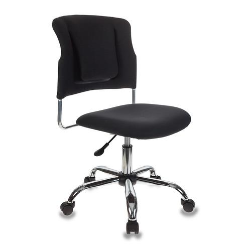Кресло БЮРОКРАТ CH-322SXN, на колесиках, ткань, черный [ch-322sxn/black] кресло офисное персона persona доступные цвета обивки искусств чёрная кожа