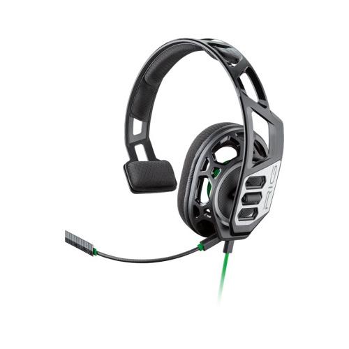 Гарнитура игровая PLANTRONICS RIG 100HX, для компьютера и игровых консолей, накладные, черный / зеленый [209180-05] цена