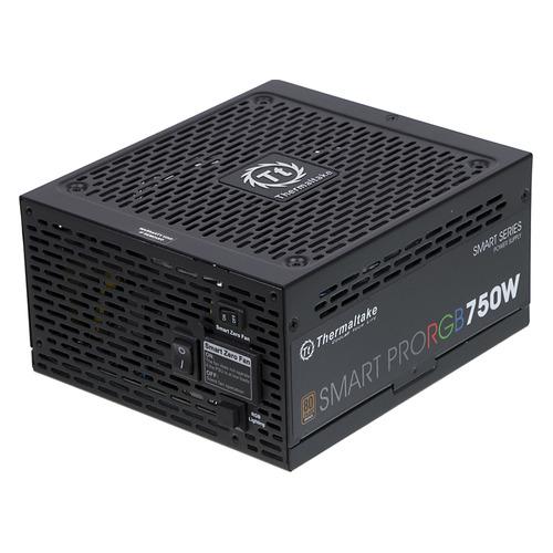 Блок питания THERMALTAKE SMART PRO RGB, 750Вт, 140мм, черный, retail [ps-spr-0750fpcbeu-r] цены