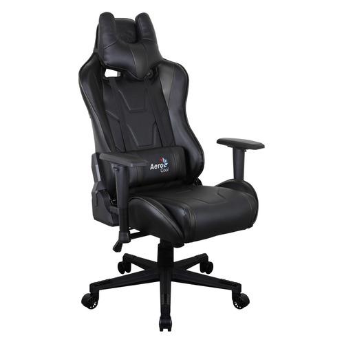 Кресло игровое AEROCOOL AC220 AIR-B, на колесиках, ПВХ/полиуретан, черный [516343]