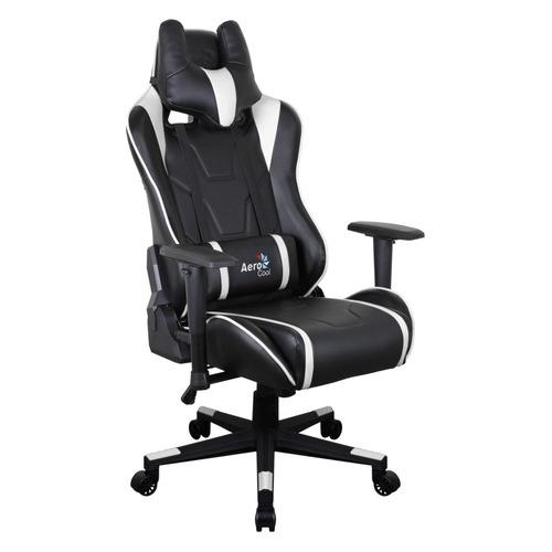 Кресло игровое AEROCOOL AC220 AIR-BW, на колесиках, ПВХ/полиуретан, черно-белый [516396] кресло офисное персона persona доступные цвета обивки искусств чёрная кожа