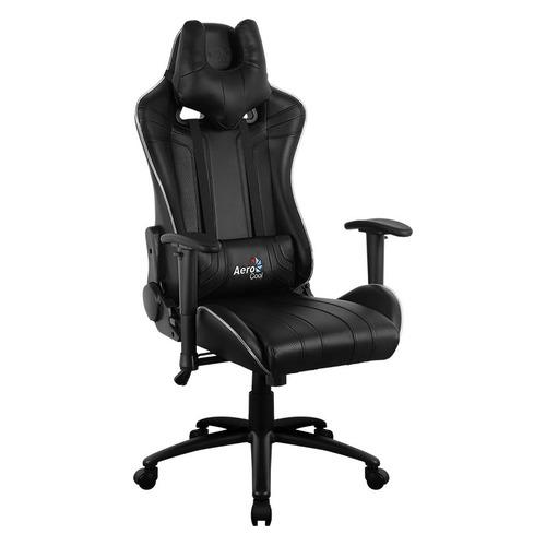 Кресло игровое AEROCOOL AC120 RGB-B, на колесиках, ПВХ/полиуретан, черный [516335]