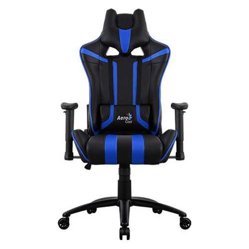Кресло игровое AEROCOOL AC120 AIR-BB, на колесиках, ПВХ/полиуретан, черный/синий [516670] кресло офисное персона persona доступные цвета обивки искусств чёрная кожа