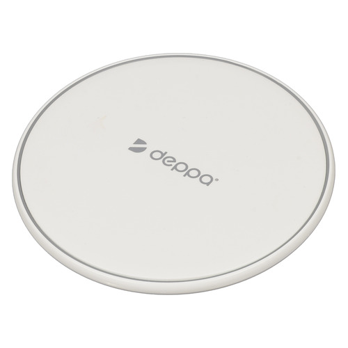 Беспроводное зарядное устройство DEPPA Qi Fast, USB, microUSB, 1A, белый цена и фото