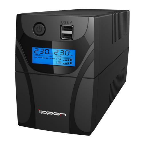 ИБП IPPON Back Power Pro II 600, 600ВA [1030300] ибп ippon back power pro ii 600 360вт 600ва черный