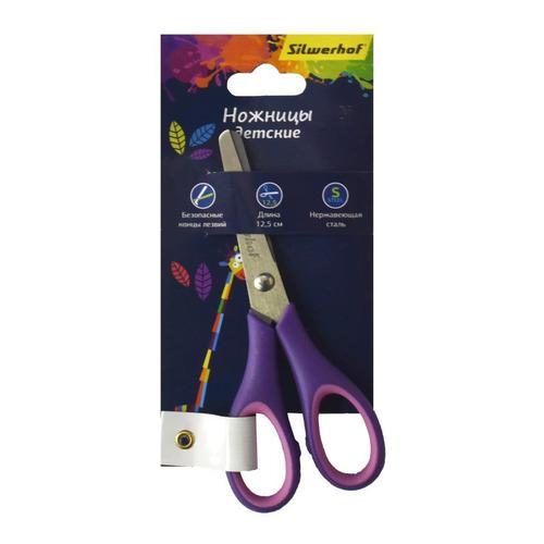 Фото - Упаковка ножниц SILWERHOF 453088 Цветландия детские, 125мм, ручки с резиновой вставкой, ассорти 12 шт./кор. упаковка ножниц maped 463010 детские 24 шт кор
