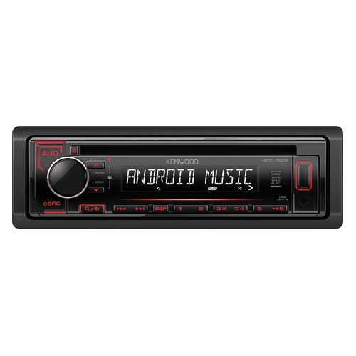 Автомагнитола KENWOOD KDC-152R, USB автомагнитола kenwood kdc 151ry usb mp3 cd fm 1din 4х50вт черный