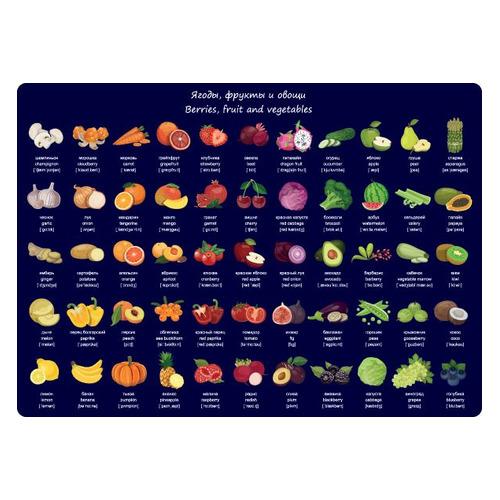 Накладка на стол Silwerhof 671619 Фрукты и овощи 330х460мм пластик 10 шт./кор. цена 2017