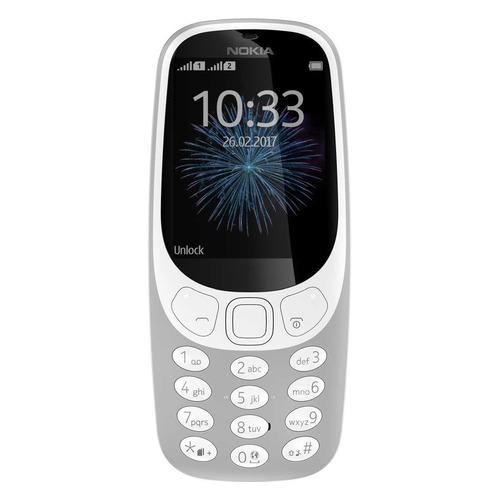 Мобильный телефон NOKIA 3310 dual sim 2017, серый цена в Москве и Питере