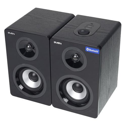 Колонки Bluetooth SVEN SPS-750, 2.0, черный  - купить со скидкой