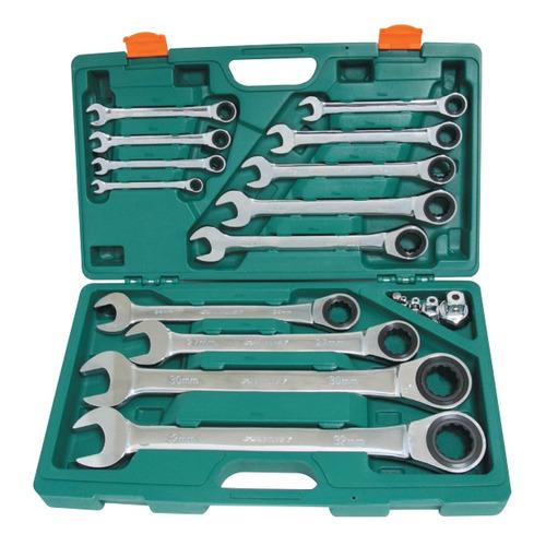 Набор инструментов JONNESWAY W45117S, 17 предметов [48739] ключ гаечный рожковый сибин 27014 08 10