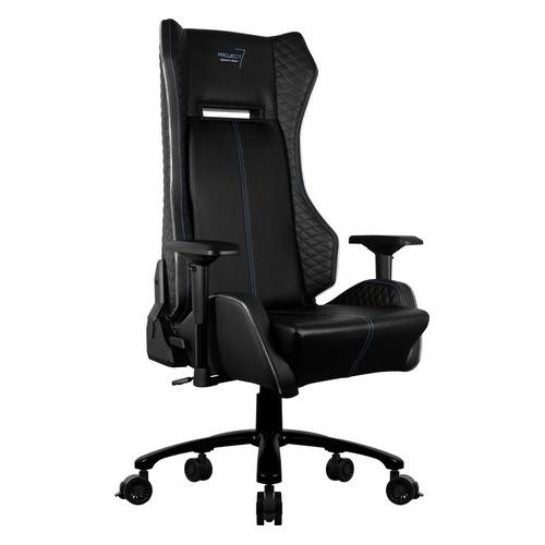 p7 ch2 air Кресло игровое Aerocool P7-GC1 AIR RGB, на колесиках, ПВХ/полиуретан, черный